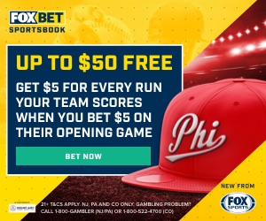 FoxBet MLB Opening Day Free $50 Promo: Get $5 For Each Run Scored