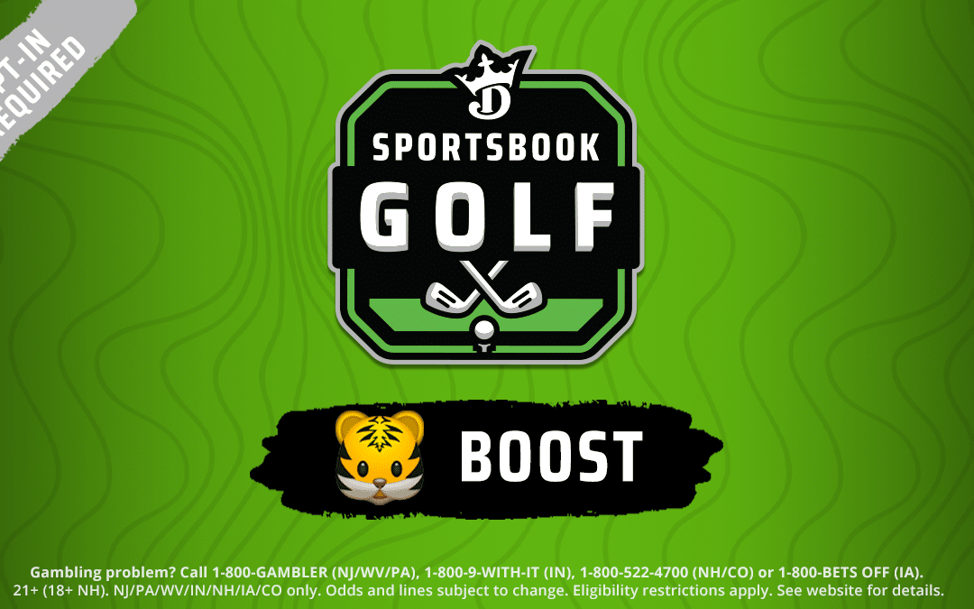 DraftKings Sportsbook Tiger Woods Odds Boost Just To Make The Cut This Week
