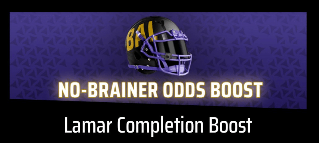 DraftKings Sportsbook Has Insane Odds on Lamar Jackson to Complete a Pass Tonight