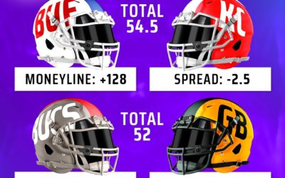 Who is the public betting on Bills/Chiefs & Bucs/Packers?